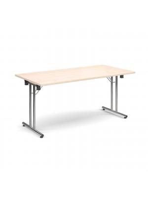 Rectangular deluxe folding leg table 1600mm x 800mm - maple