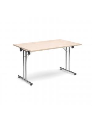 Rectangular deluxe folding leg table 1300mm x 800mm - maple