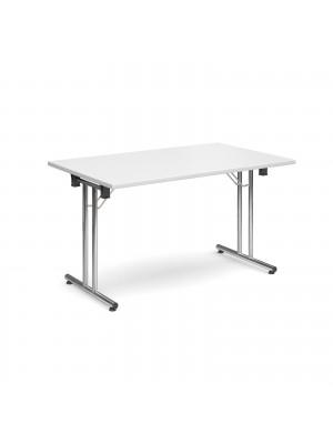 Rectangular deluxe folding leg table 1300mm x 800mm - white