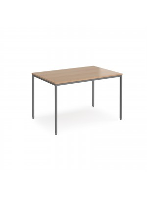 Rectangular flexi table with graphite frame 1200mm x 800mm - beech