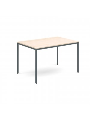 Rectangular flexi table with graphite frame 1200mm x 800mm - maple