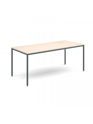 Rectangular flexi table with graphite frame 1800mm x 800mm - maple