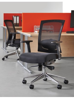 Gemini 300 series mesh task chair with adjustable arms and headrest - black