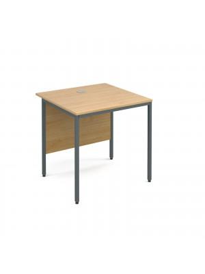 Maestro H frame straight desk 754mm - oak