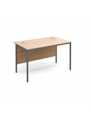 Maestro H frame straight desk 1228mm - beech