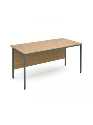 Maestro H frame straight desk 1532mm - oak