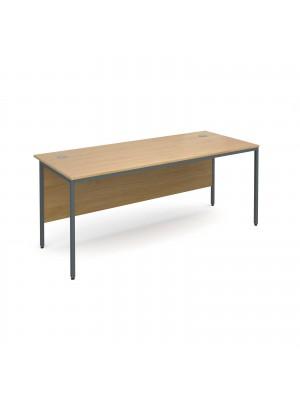Maestro H frame straight desk 1786mm - oak
