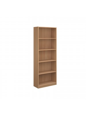 Economy bookcase 2004mm high with four shelves in beech