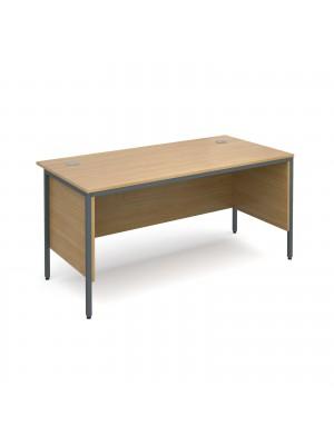 Maestro H-Frame straight desk with side panels 1532mm - oak