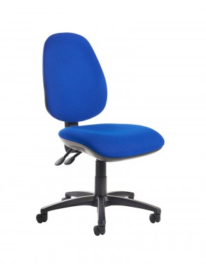 Jota high back operator chair with no arms - blue