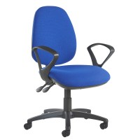 Jota high back operator chair with fixed arms - blue