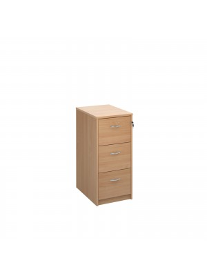 Deluxe 3 drawer filing cabinet with silver handles 1045mm high - beech