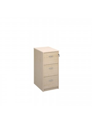 Deluxe 3 drawer filing cabinet with silver handles 1045mm high - maple