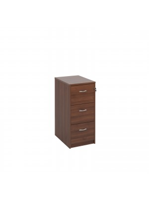 Deluxe 3 drawer filing cabinet with silver handles 1045mm high - walnut