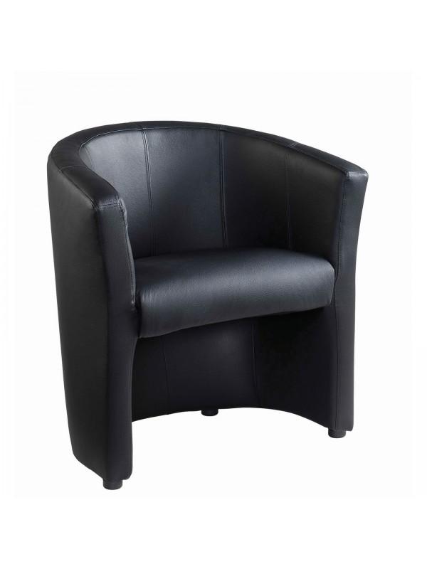 Wondrous London Reception Single Tub Chair 670Mm Wide Black Faux Machost Co Dining Chair Design Ideas Machostcouk