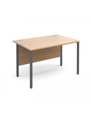 Maestro 25 GL straight desk 1200mm x 800mm - graphite H-Frame, beech top