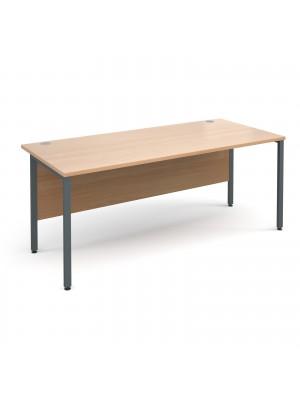 Maestro 25 GL straight desk 1800mm x 800mm - graphite H-Frame, beech top