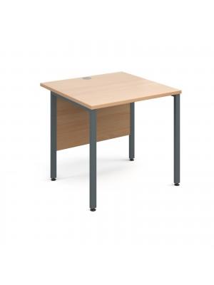 Maestro 25 GL straight desk 800mm x 800mm - graphite H-Frame, beech top