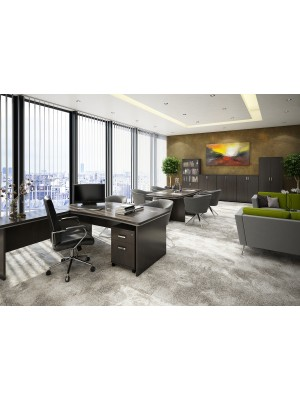 Magnum executive desk 1800mm x 900mm - dark oak