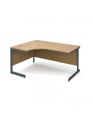 Maestro cantilever leg left hand ergonomic desk 1524mm - oak