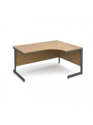 Maestro cantilever leg right hand ergonomic desk 1524mm - oak