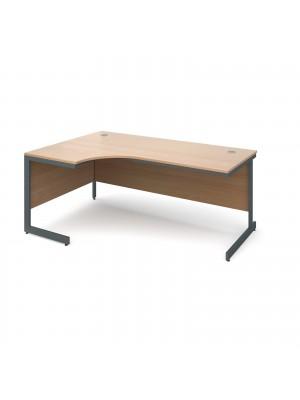 Maestro cantilever leg left hand ergonomic desk 1778mm - beech