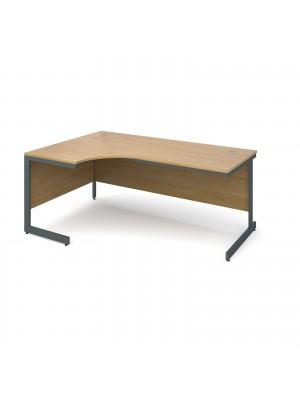 Maestro cantilever leg left hand ergonomic desk 1778mm - oak