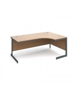 Maestro cantilever leg right hand ergonomic desk 1778mm - beech