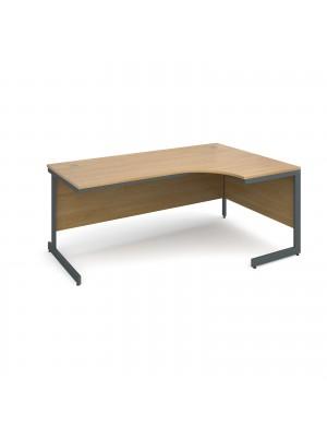 Maestro cantilever leg right hand ergonomic desk 1778mm - oak