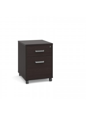 Magnum 2 drawer mobile pedestal - dark oak