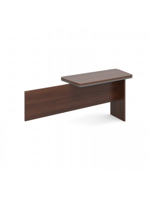 Magnum executive desk return 1120mm x 500mm -  american walnut