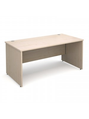 Maestro 25 PL straight desk 1600mm x 800mm - maple panel leg design