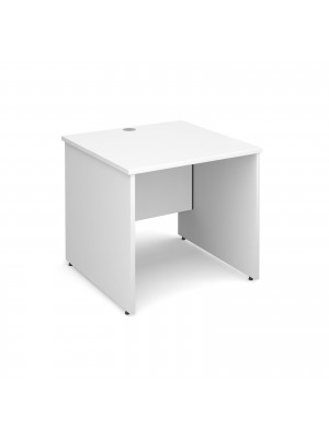 Maestro 25 PL straight desk 800mm x 800mm - white panel leg design