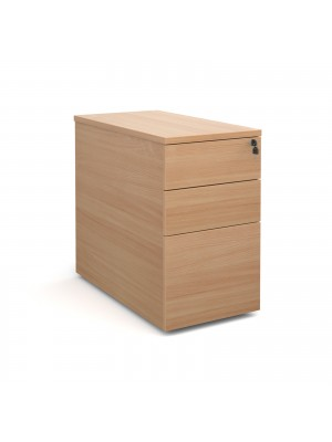 Deluxe desk high 3 drawer pedestal 800mm deep - beech