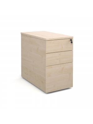Deluxe desk high 3 drawer pedestal 800mm deep - maple