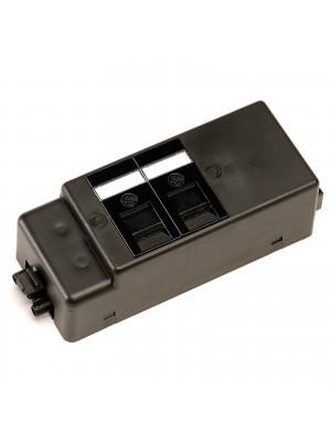Under desk power bar 2 x RJ45 sockets - black