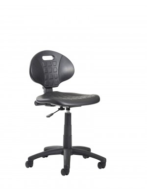 Prema 200 polyurethane industrial operator chair with contoured back support - black