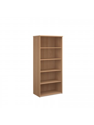 Universal bookcase 1790mm high with 4 shelves - beech