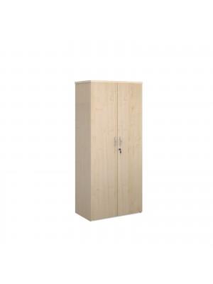 Universal double door cupboard 1790mm high with 4 shelves - maple