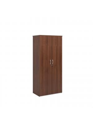 Universal double door cupboard 1790mm high with 4 shelves - walnut