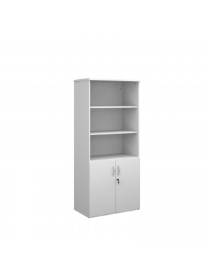 Universal combination unit with open top 1790mm high with 4 shelves - white
