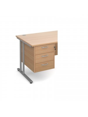 Maestro 25 3 drawer fixed pedestal - beech