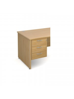 Maestro 25 3 drawer fixed pedestal - oak