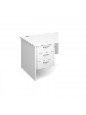 Maestro 25 3 drawer fixed pedestal - white