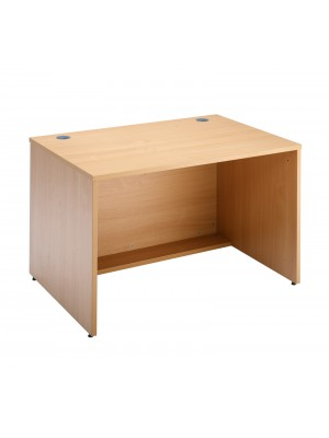 Denver reception straight base unit 1200mm x 800mm - beech