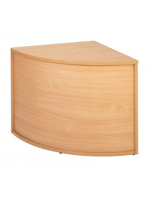 Denver reception corner base unit 800mm x 800mm - beech