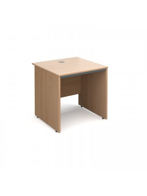 Maestro panel end straight desk 754mm - beech