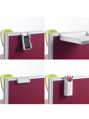 Screen accessories pack for aluminium frames screens - silver