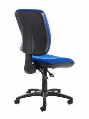 Senza high back operator chair with no arms - blue