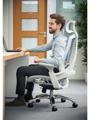 Sorrento high mesh back posture chair - blue